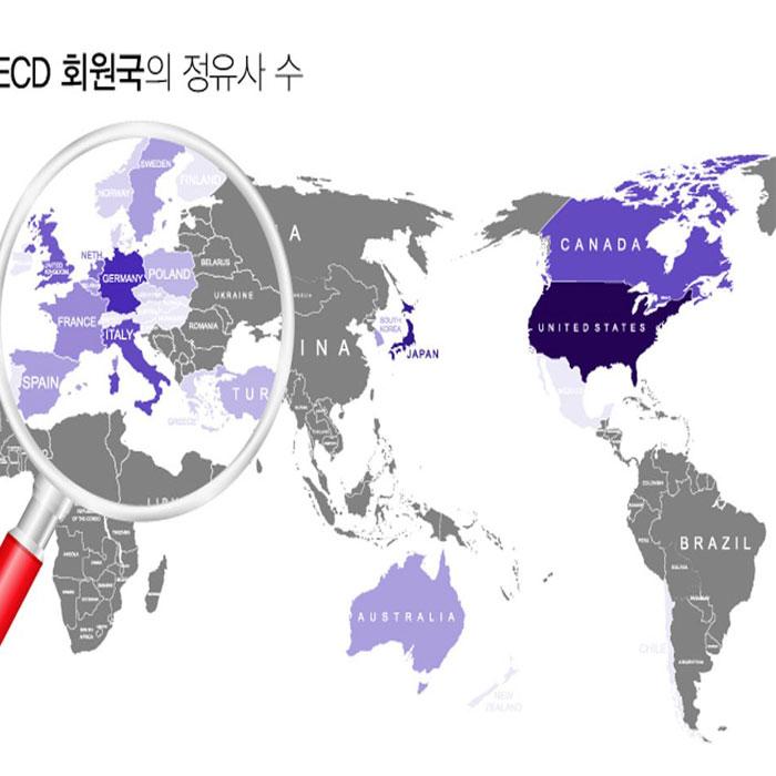 [인포그래픽] 숫자로 보는 세계 정유산업 시장구조