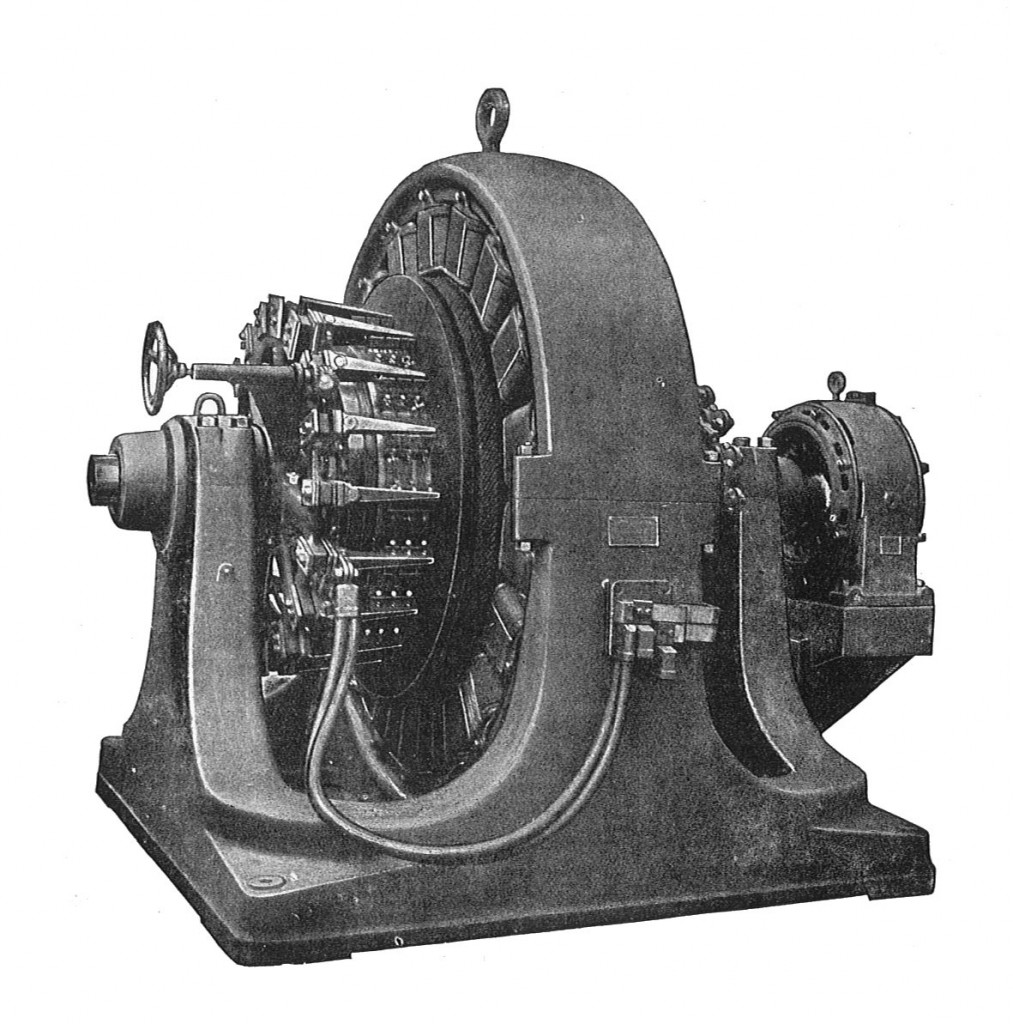 500kW_Westinghouse_rotary_converter_(Rankin_Kennedy,_Electrical_Installations,_Vol_II,_1909)
