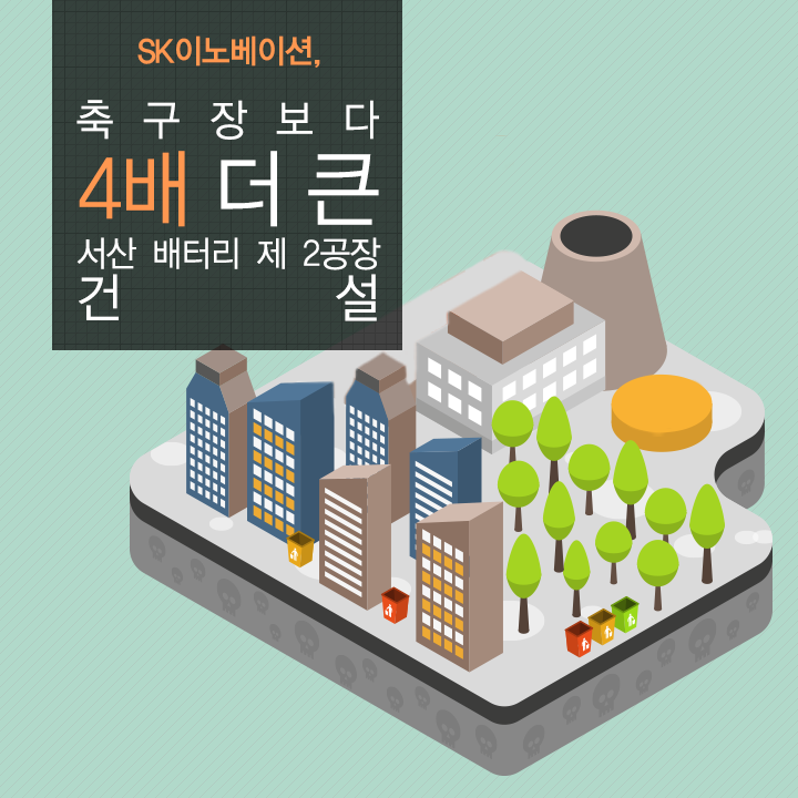 SK이노베이션, 축구장보다 4배 더 큰 서산 배터리 제 2공장 건설