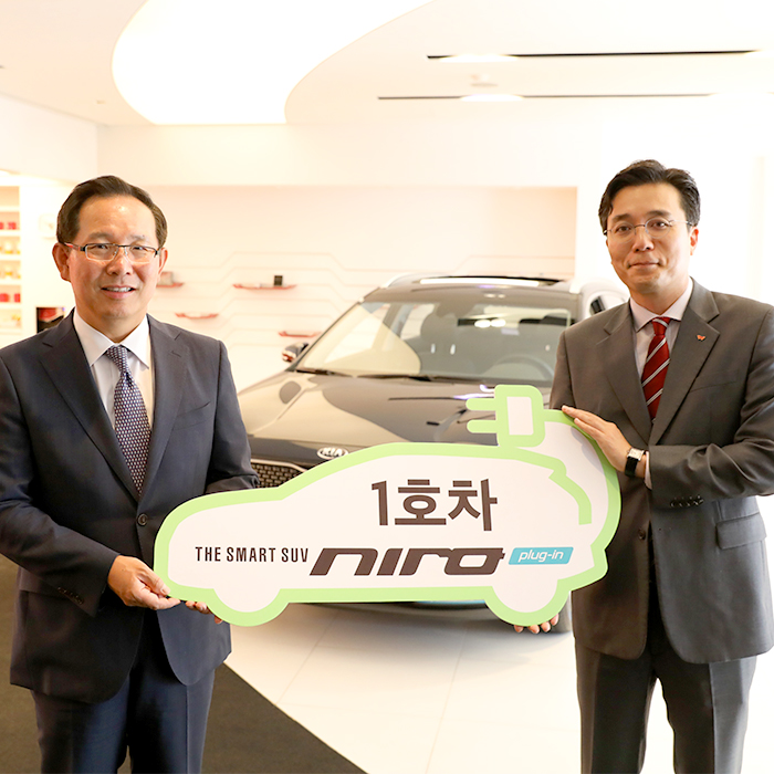 SK이노베이션 배터리가 탑재된 니로PHEV 1호차 출시!