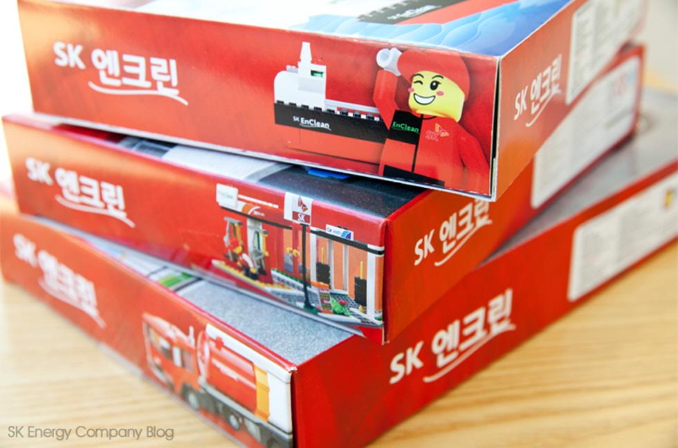 ▲사은품으로 기획한 SK엔크린 블록 장난감