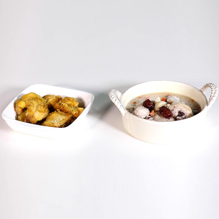 자취생들을 위한 초간단 특급 보양식, 전자레인지 삼계죽 & 치킨