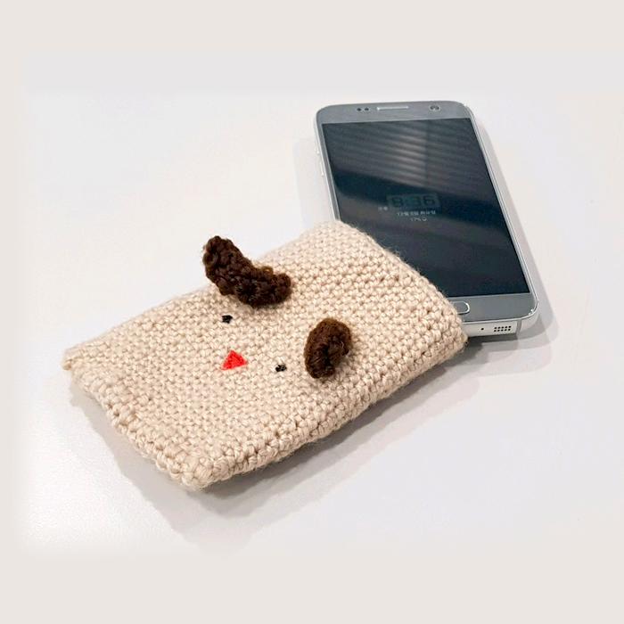 추운 겨울, 핸드폰을 보호하는 코바늘 핸드폰 케이스 만들기