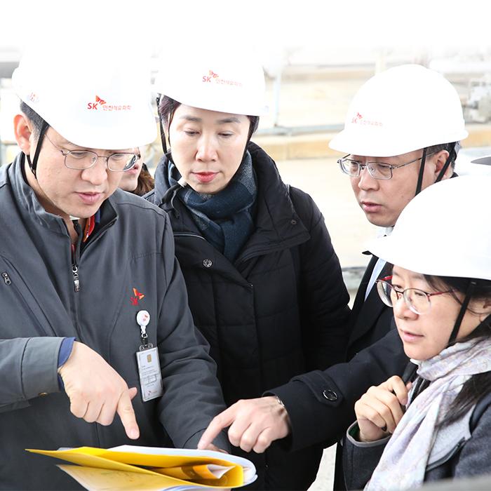 베이징市 환경보호국 관계자들,  엄격한 환경관리시스템 벤치마킹 위해 SK인천석유화학 방문