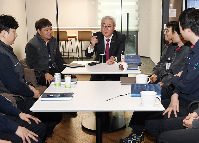 SK이노베이션 김준 총괄사장, SK 울산Complex 구성원들과 행복 Commitment 나눠