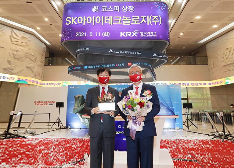 """SK아이이테크놀로지, 오늘 상장…""""글로벌 No.1 소재 솔루션 회사로 거듭날 것"""""""