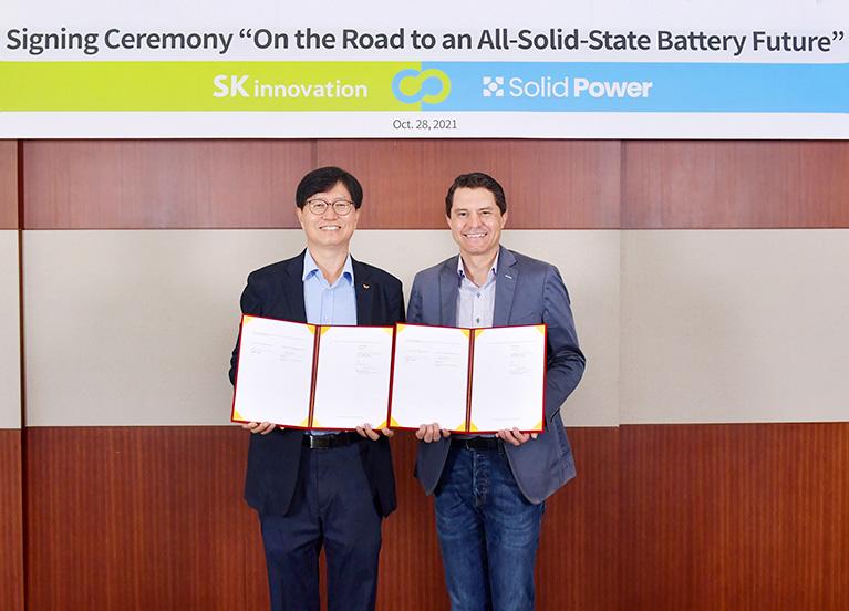 """""""리튬이온 넘어 차세대 배터리서도 시장 선도"""" - SK이노베이션, 美 솔리드파워와 전고체 배터리 공동 개발 및 생산 나선다"""